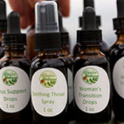 Tinctures and custom tincture blends at Herban Wellness